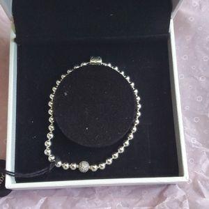 Pandora pave bracelet boxed
